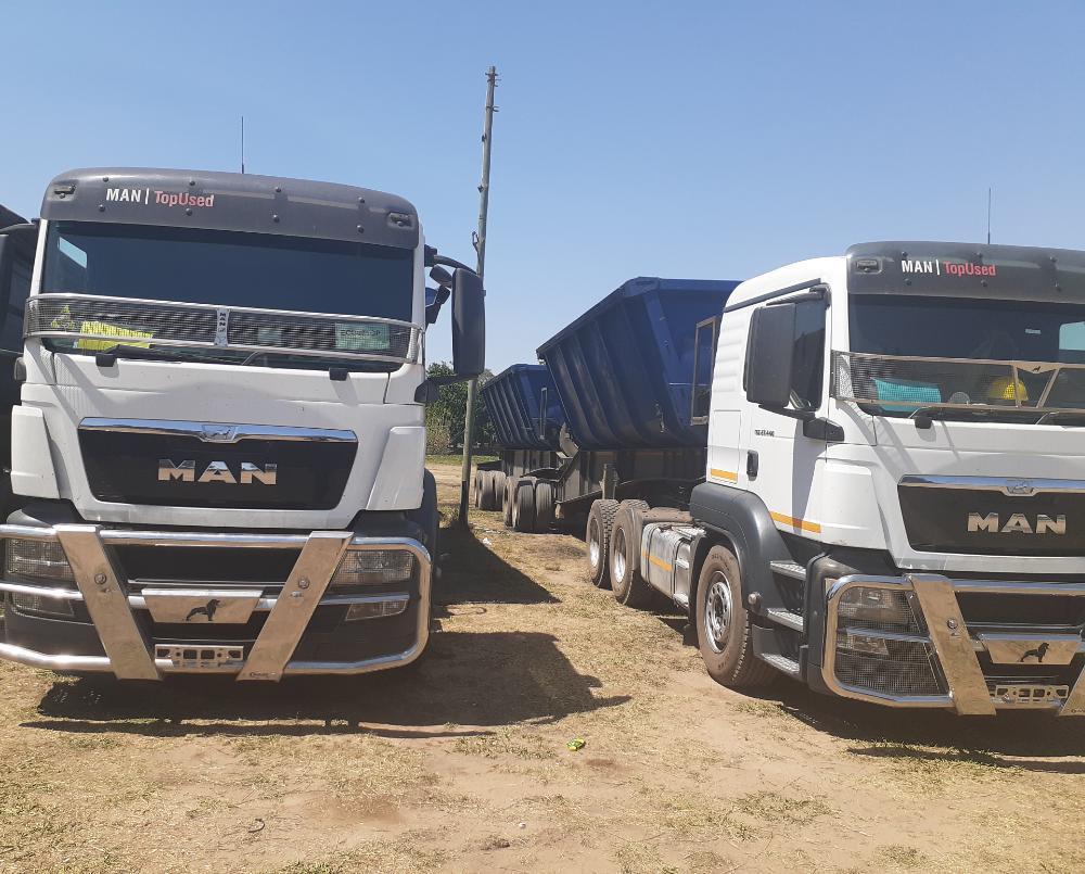 34 ton side tipper trucks